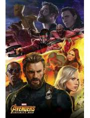 Avengers Infinity War Kapitan Ameryka - plakat