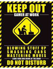 Keep Out Gamer At Work - plakat