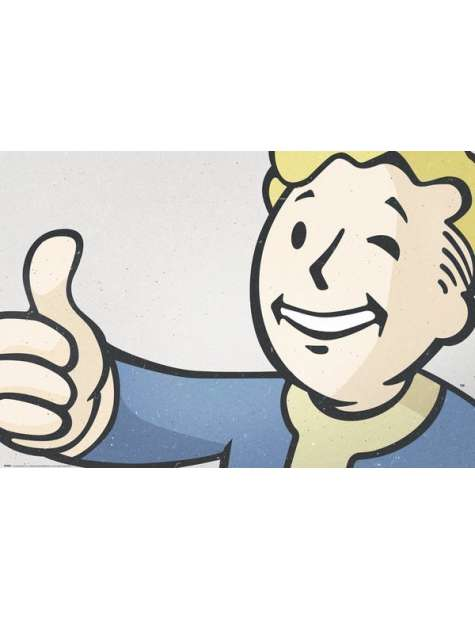 Fallout 4 Vault Boy - plakat
