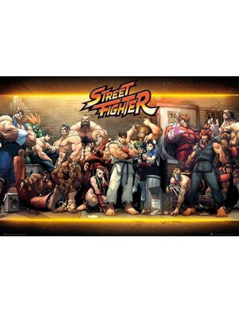 Street Fighter Bohaterowie - plakat