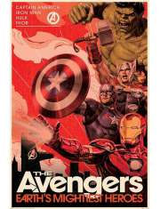 Marvel Avengers Retro - plakat