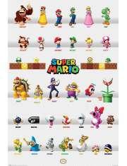 Super Mario Bohaterowie - plakat