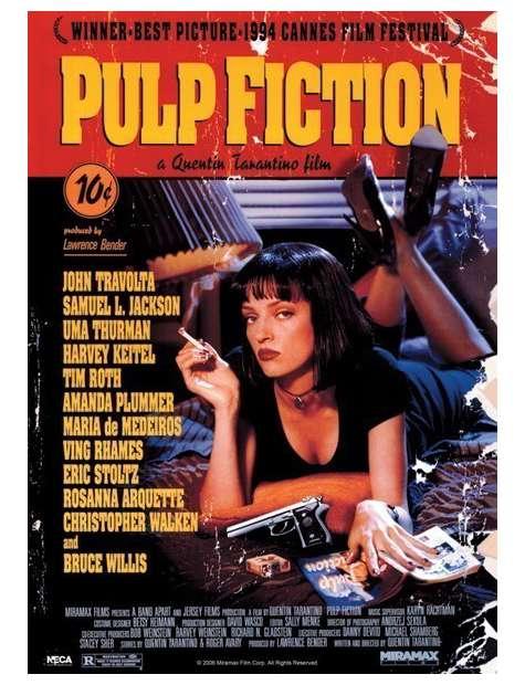 Pulp Fiction - Uma Thurman - plakat