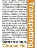 Trainspotting - Wybierz Życie - plakat motywacyjny
