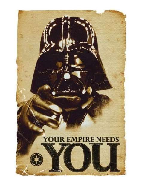Star Wars Gwiezdne Wojny - Empire Needs You - plakat