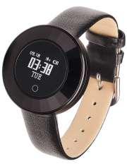 Smartwatch Garett Women Lea czarny skórzany