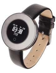 Smartwatch Garett Women Lea srebrny skórzany