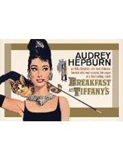 Audrey Hepburn Śniadanie u Tiffanego Gold - plakat