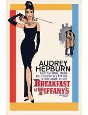 Audrey Hepburn Śniadanie u Tiffanego - retro plakat