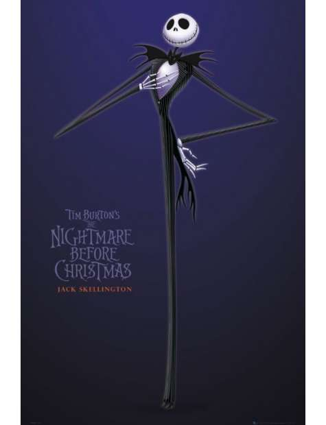 The Nightmare Before Christmas skellington - plakat