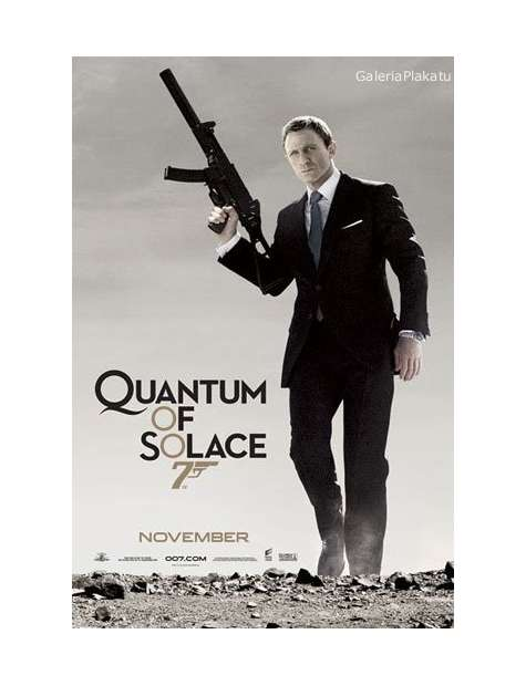 James Bond Quantum of Solace - portrait - plakat
