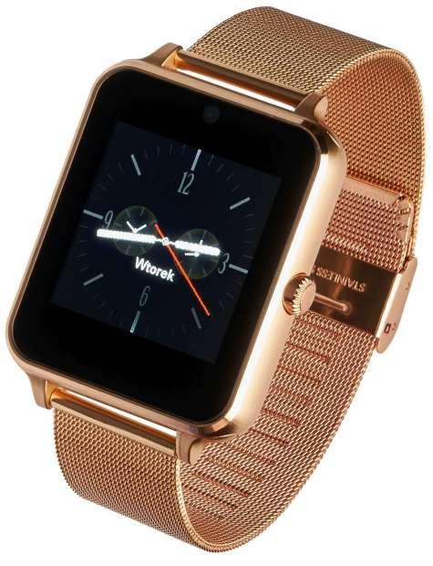 Smartwatch Garett G25 złoty stalowy