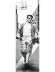 James Dean Spacer z Papierosem - plakat