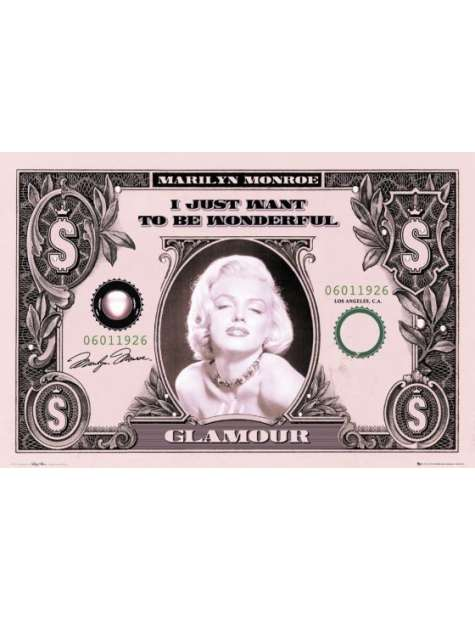 Marylin Monroe Dollar - plakat