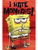 Spongebob Kanciastoporty - Nie Lubię Poniedziałków - plakat
