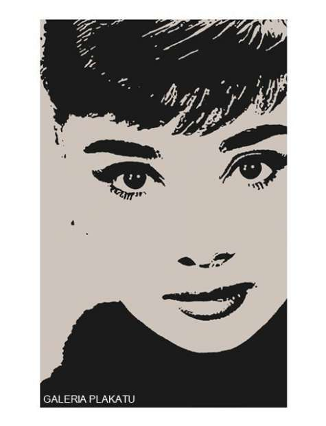 Audrey Hepburn Rysunek - plakat