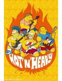 The Simpsons - hot and heavy - plakat