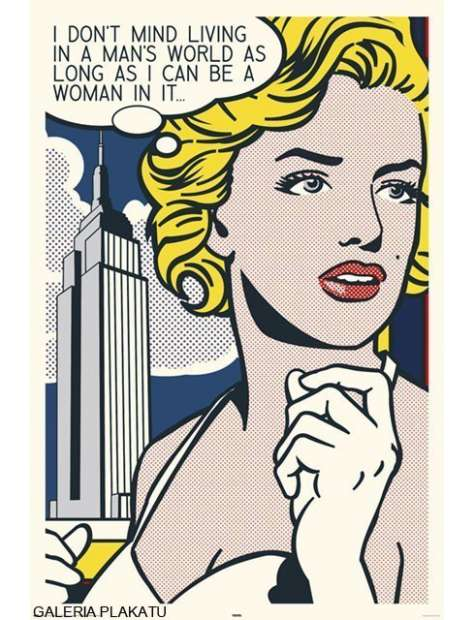 Marilyn Monroe Pop Art - Komiks - retro plakat