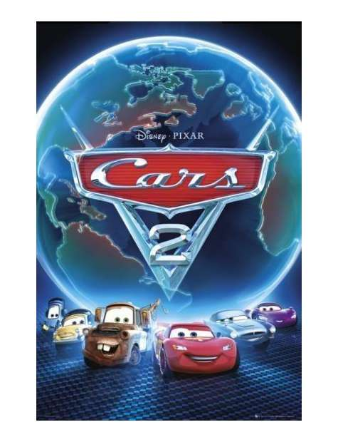 Auta 2 Cars 2 one sheet - plakat