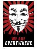 V for Vendetta - Jesteśmy Wszędzie - plakat