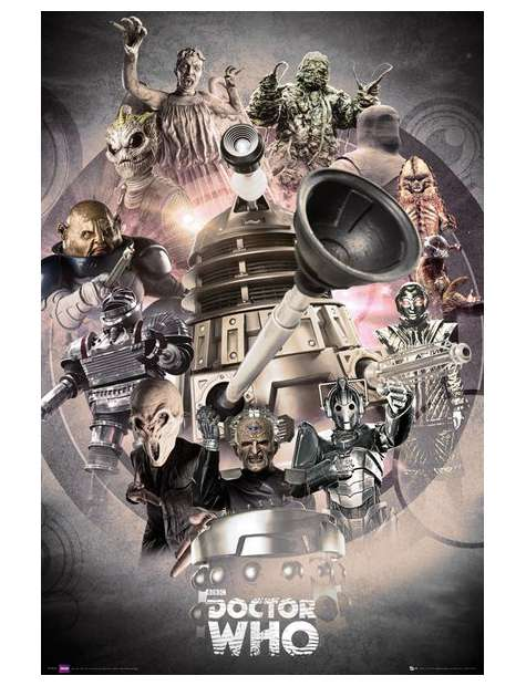 Doctor Who Enemies - plakat