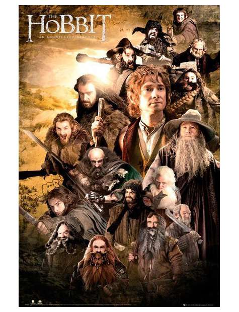 The Hobbit - Obsada - plakat