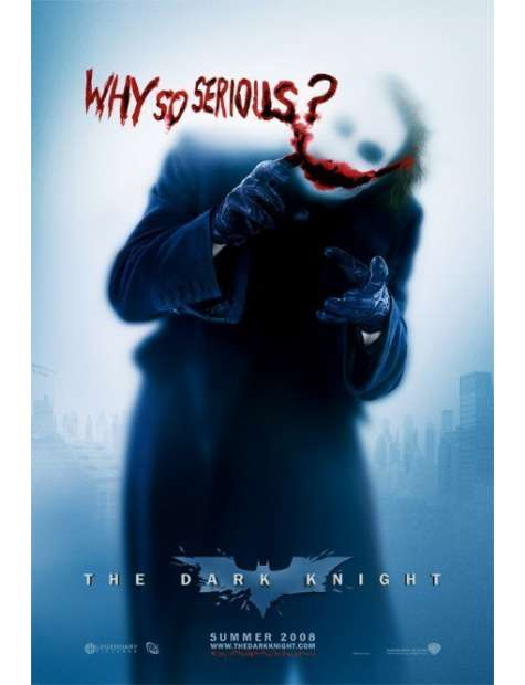 Batman - Mroczny Rycerz - Joker - Why So Serious ? - plakat