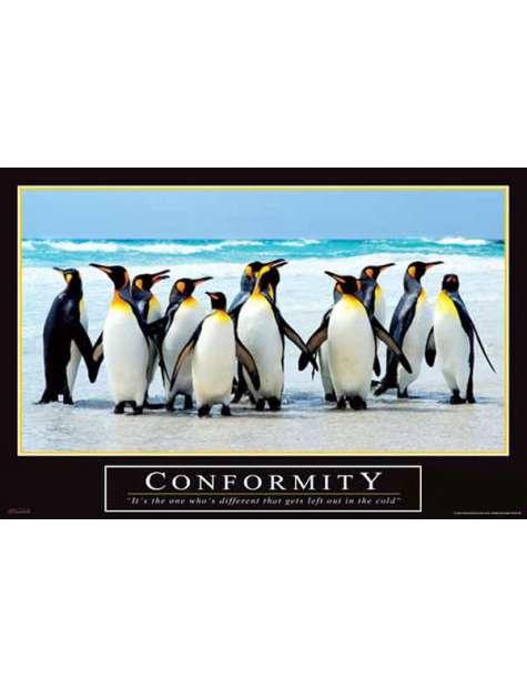Conformity - plakat motywacyjny