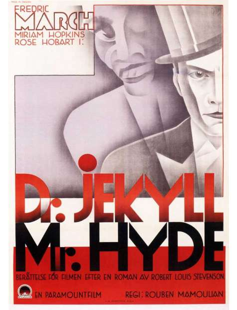 Dr. Jekyll and Mr. Hyde - retro plakat