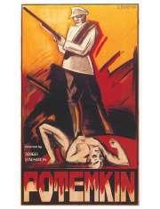 Pancernik Potiomkin - retro plakat