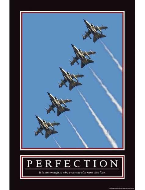 Perfekcja - It's not enough to win ... - plakat motywacyjny