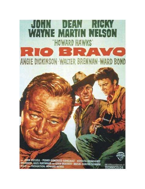 Western Rio Bravo - retro plakat