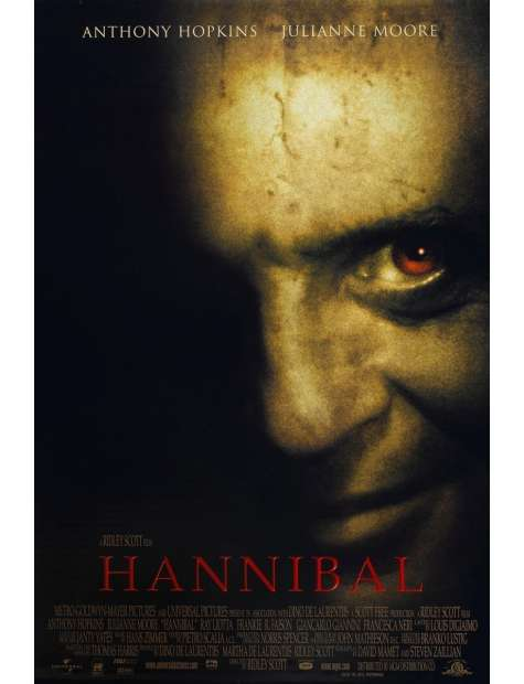 Hannibal - Anthony Hopkins - plakat