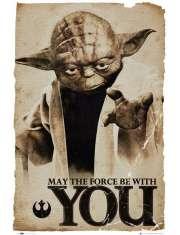 Star Wars Gwiezdne Wojny - Yoda - Niech moc będzie z Tobą - plakat