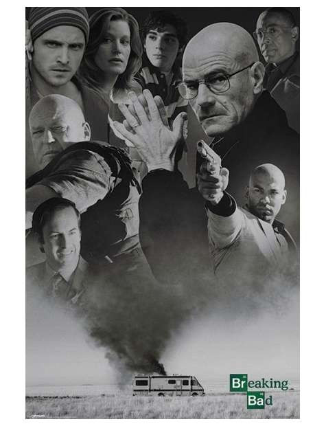 Breaking Bad Up In Smoke - plakat