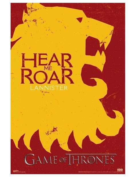 Gra o Tron Lannisterowie - plakat