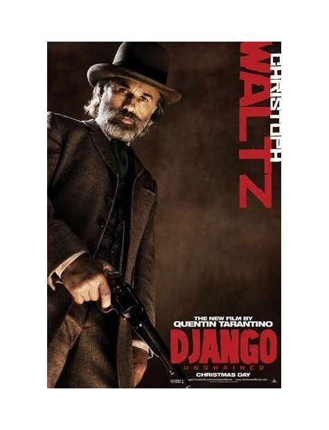 Django Unchained Christoph Waltz - plakat