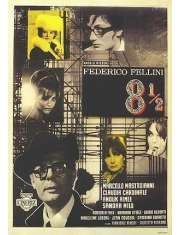 Osiem i Pół Federico Fellini - plakat