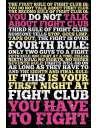 Fight Club Zasady - plakat