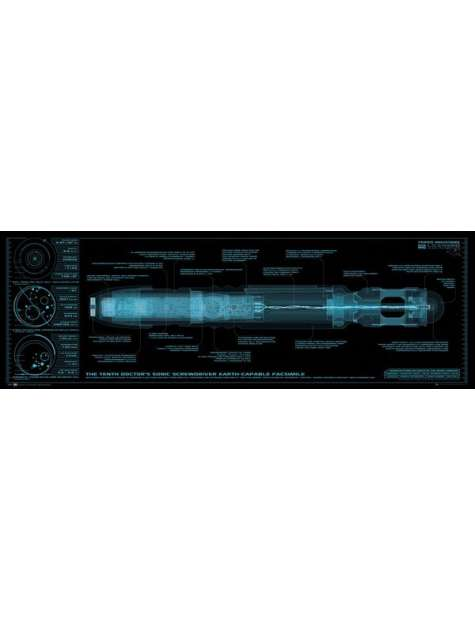 Doctor Who Sonic Screwdriver - plakat