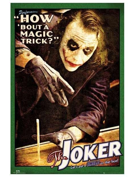 Batman Mroczny Rycerz Joker Magiczna Sztuczka - plakat