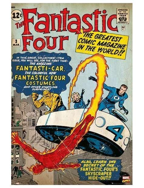 Marvel Fantastyczna Czwórka retro - plakat