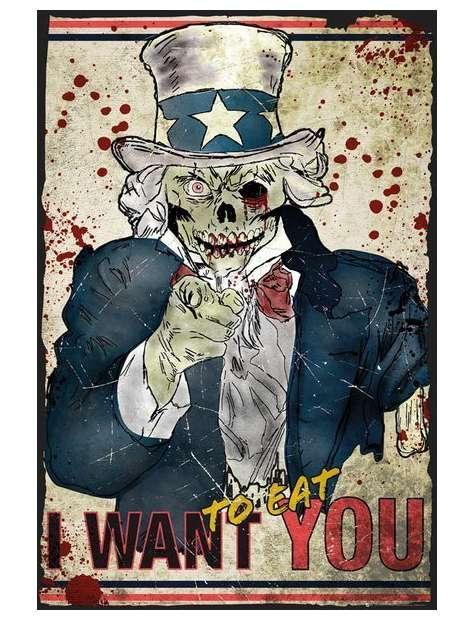 Zombie Wujek Sam - plakat