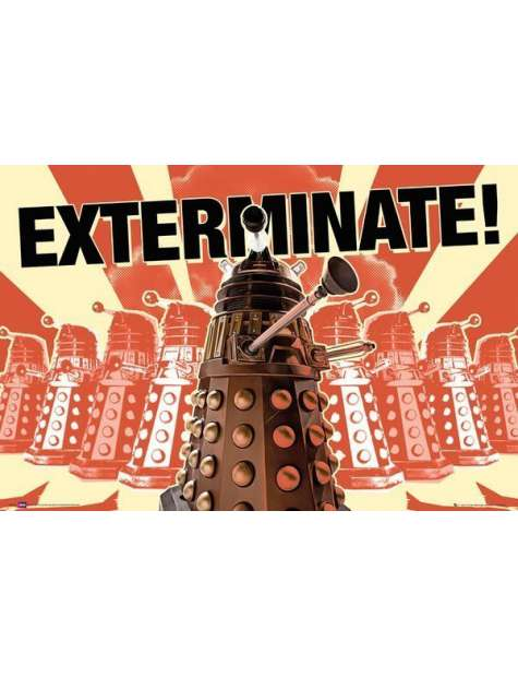 Doctor Who Daleks Exterminate - plakat