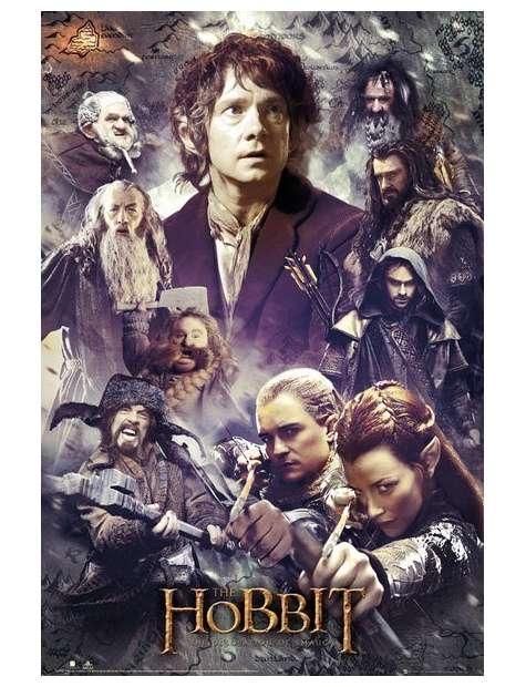 The Hobbit Pustkowie Smauga Kolaż - plakat