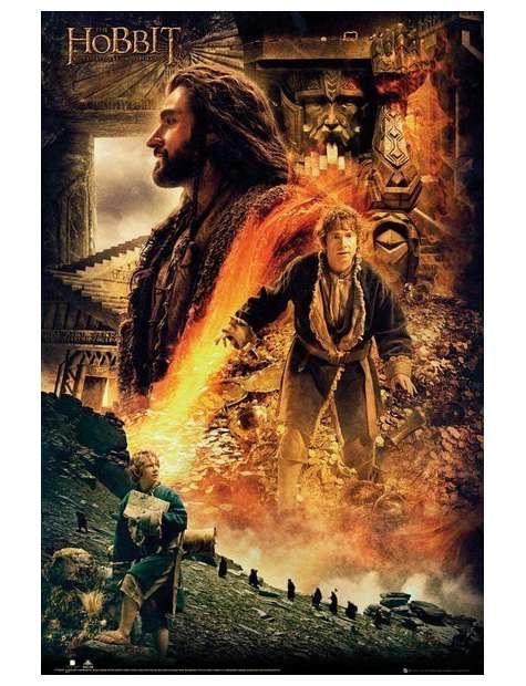 The Hobbit Pustkowie Smauga Ogień - plakat