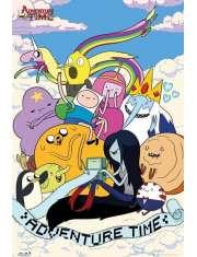 Pora na Przygodę Bohaterowie. Adventure Time - plakat