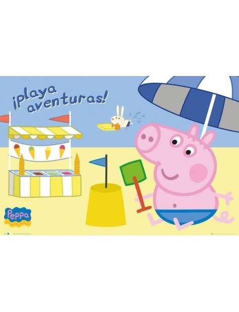 Świnka Peppa Zabawa na Plaży - plakat
