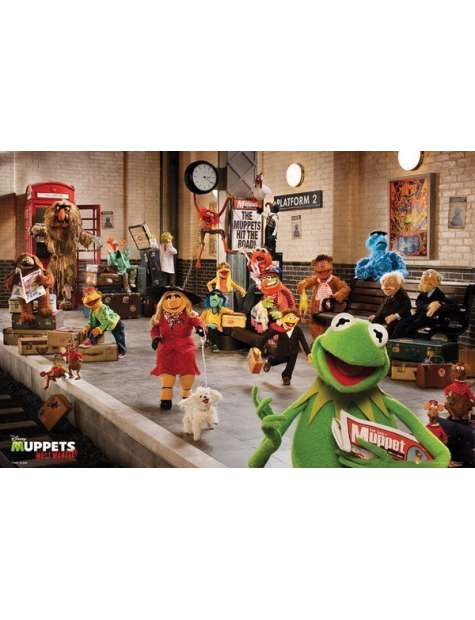 The Muppets 2 Most Wanted Bohaterowie - plakat