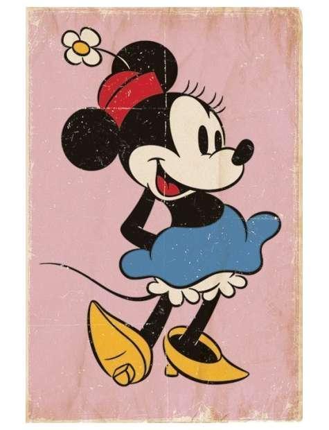 Myszka Miki Minnie Mouse Retro - plakat